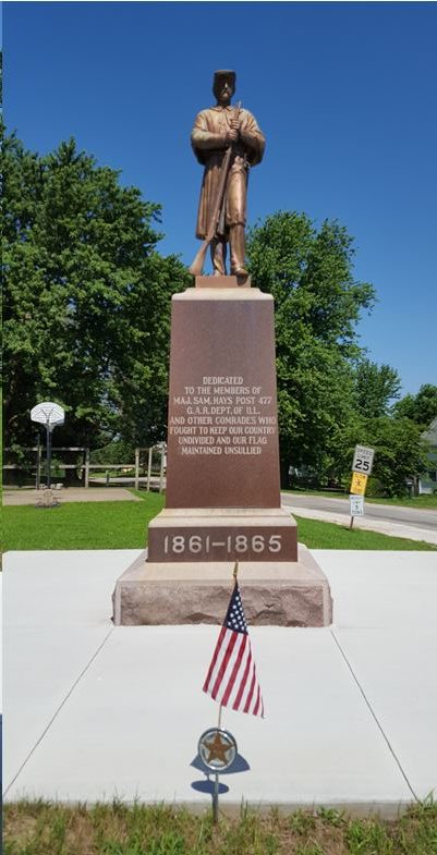 Civil War Monument in Summer Hill, Illinois