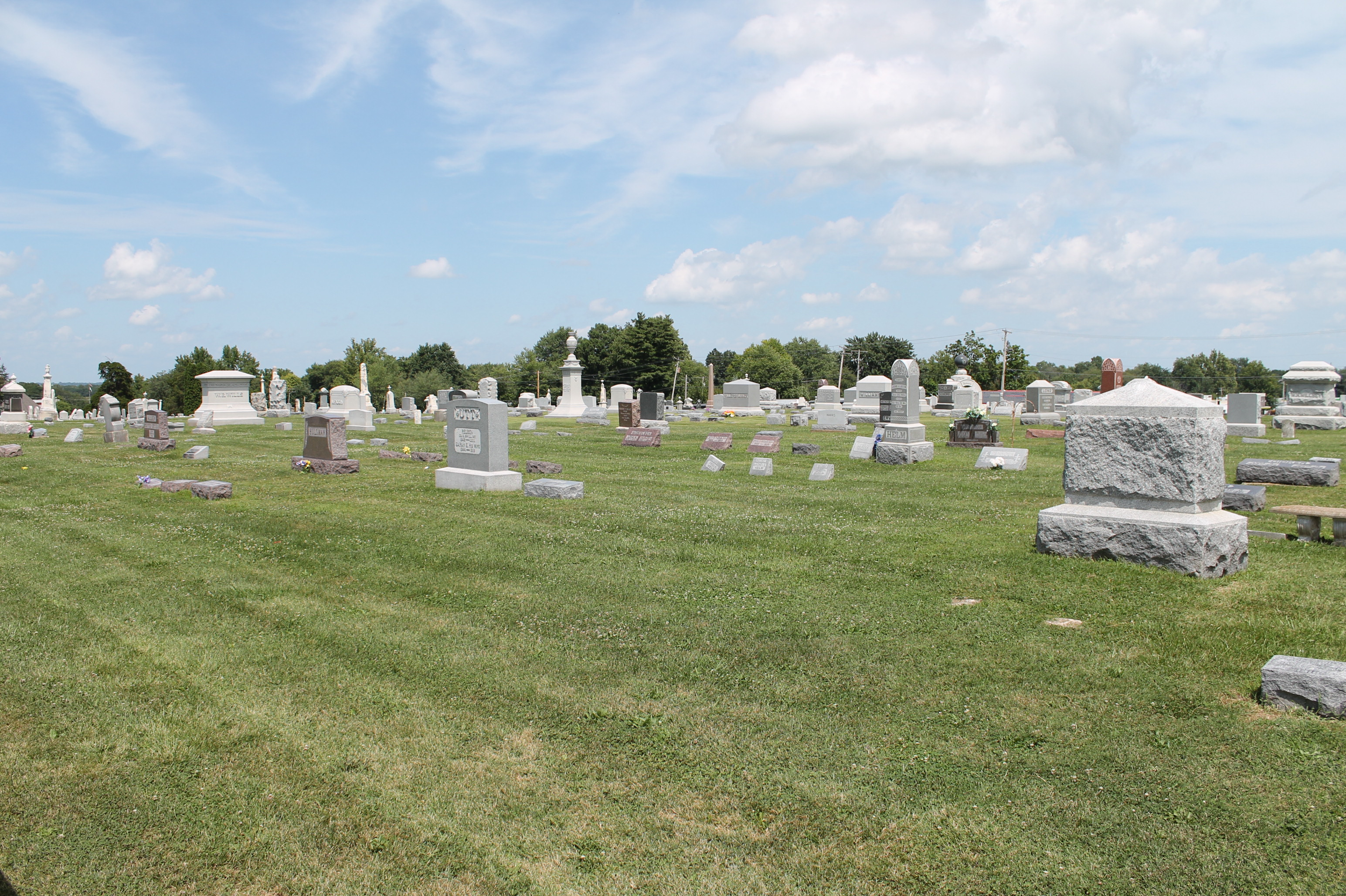 Headstones in West Cemetery - Pittsfield, Illinois